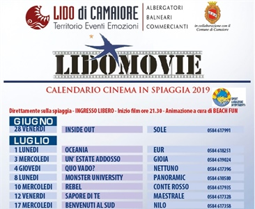LIDO MOVIE... cinema itinerante negli stabilimenti balneari
