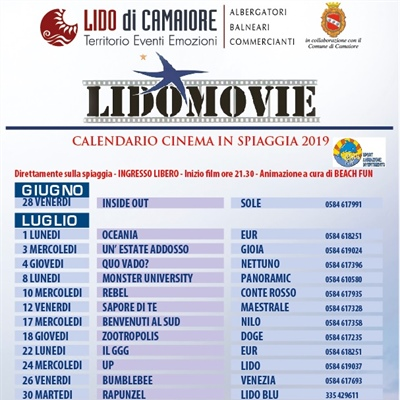 SUMMER 2020 COMING SOON - LIDO MOVIE... cinema itinerante negli stabilimenti balneari