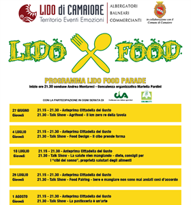 SUMMER 2020 COMING SOON - LIDO FOOD PARADE... ogni giovedì in Piazza...