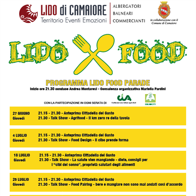 SUMMER 2020 COMING SOON - LIDO FOOD PARADE... ogni giovedì in Piazza Principe Umberto